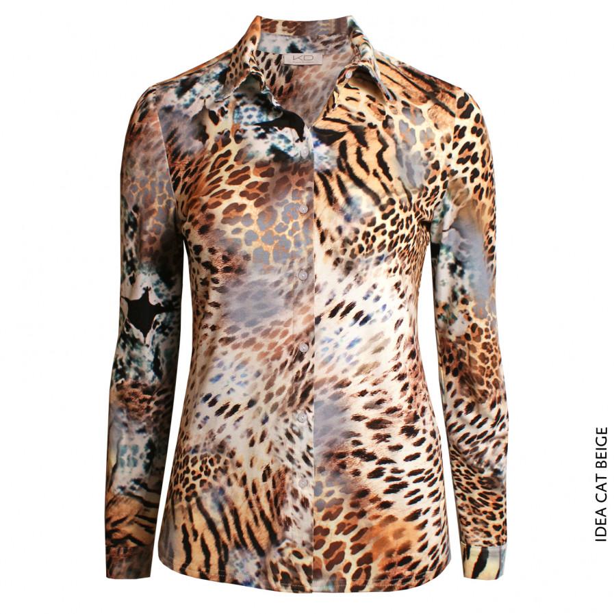 Kd Klaus Dilkrath Idea Bluse Cat Beige