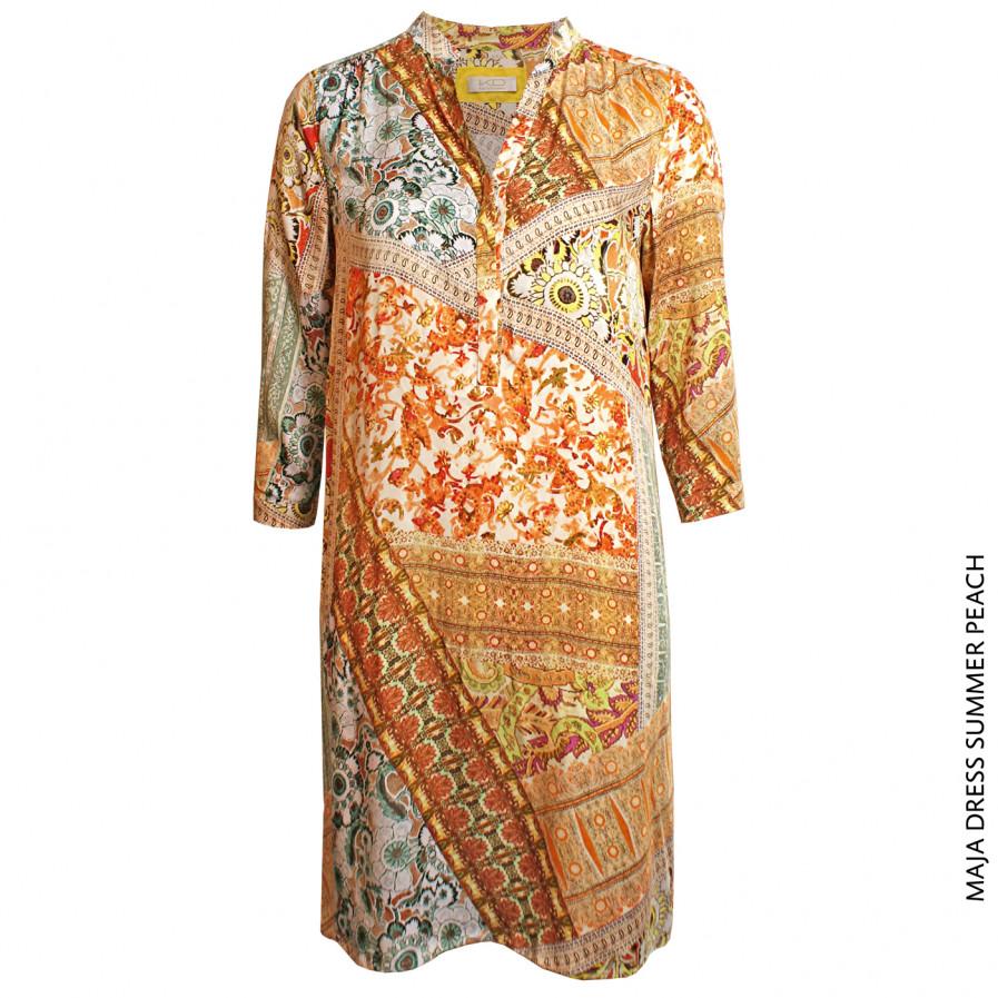 Kd Klaus Dilkrath Maja Dress Summer Peach