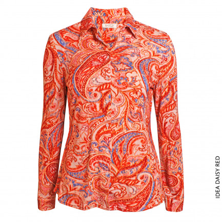 Kd Klaus Dilkrath Idea Bluse Daisy Red
