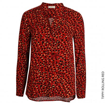 Kd Klaus Dilkrath Tippy Bluse Rolling Red