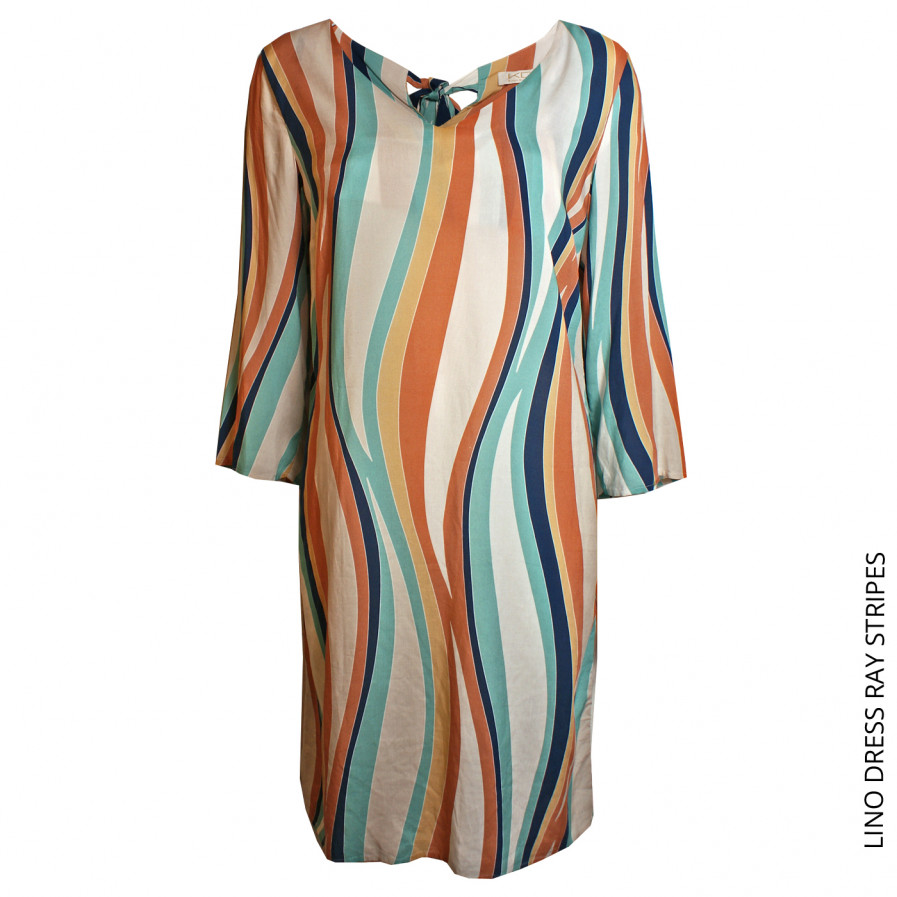 Kd Klaus Dilkrath Lino Kleid Ray Stripes