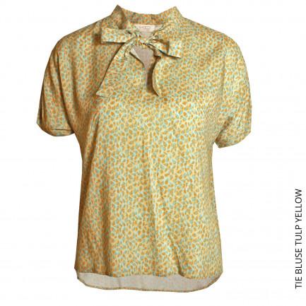 Kd Klaus Dilkrath Tie Bluse Tulp Yellow