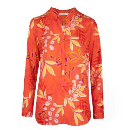 Kd Klaus Dilkrath Tippy Bluse Flora Coralle