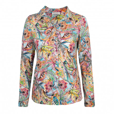 Kd Klaus Dilkrath Idea Bluse Etro Lightblue