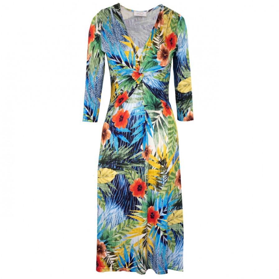 Sommerliches Jerseykleid Kd Klaus Dilkrath Livia Pa Blue