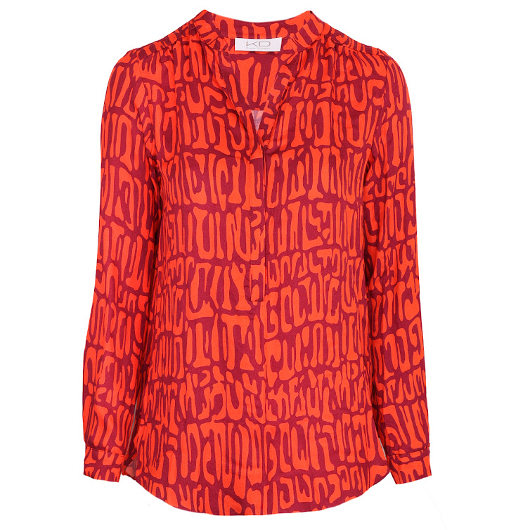 Kd Klaus Dilkrath Tippy Bluse Cavy Red